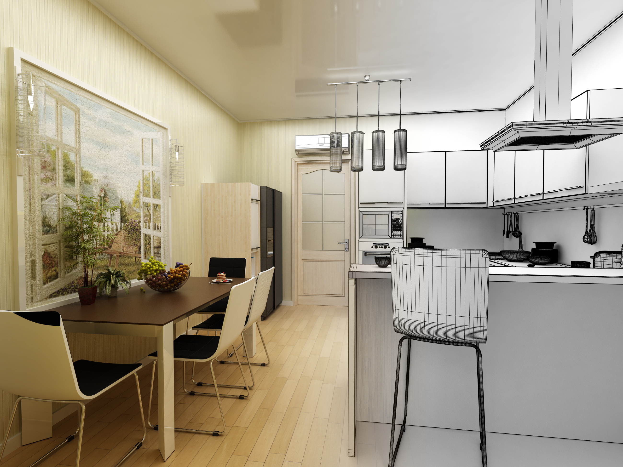 3-d kitchen design